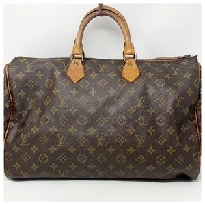 Authentic Louis Vuitton Monogram Speedy 40 Satchel